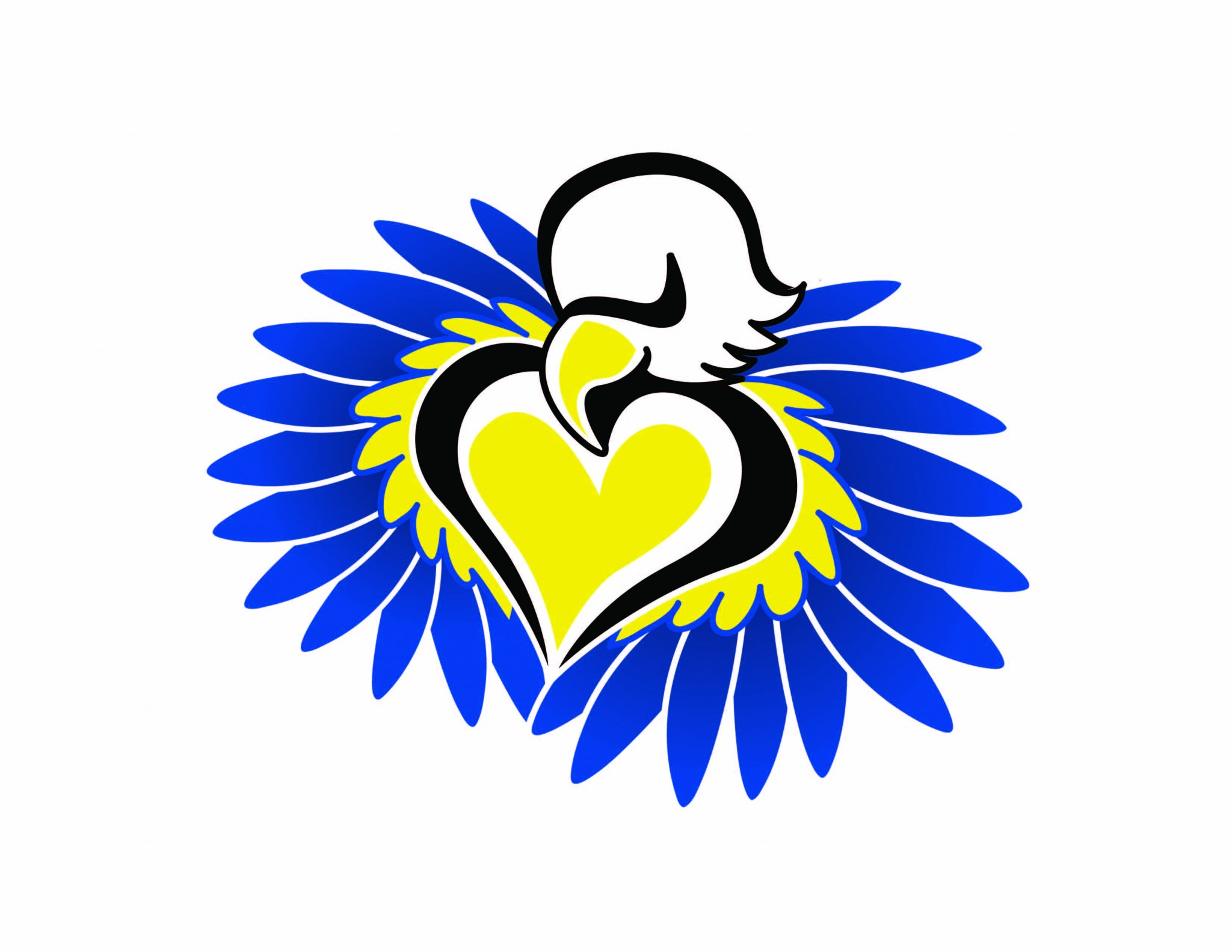 Eagle heart color logo